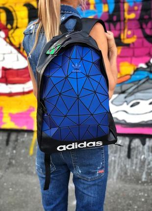 Женский рюкзак adidas black blue 16л. адидас.