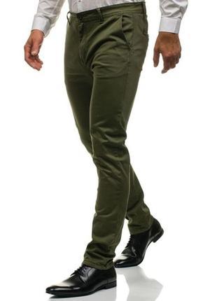 Стильные брюки чинос slim fit р.евр.54