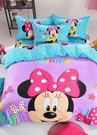Детское постельно белье minnie mouse минни маус