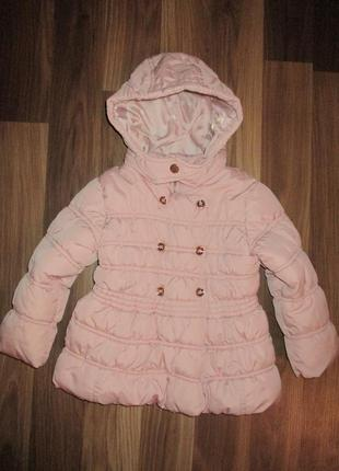 Розовая демисезонная курточка фирмы некст на 2-3 года