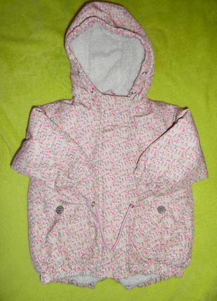 Куртка курточка ветровка 12-18 месяцев удлиненное пальто