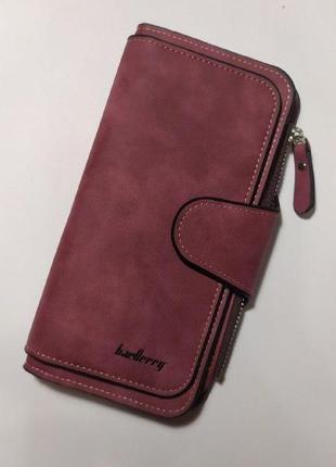 Sale -50% / новый роскошный замшевый кошелек baellerry forever / клатч