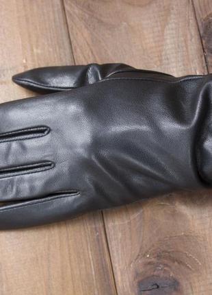 Кожаные сенсорные перчатки женские