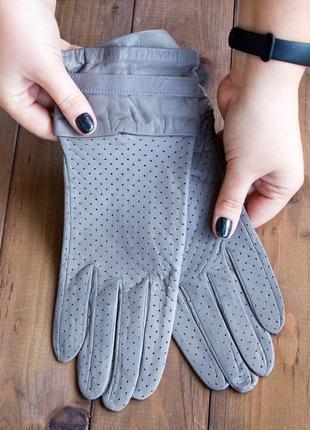 Кожаные перчатки женские демисезонные