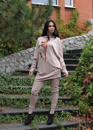Костюм. брюки, кофта. осень.дизайнерская одежда.