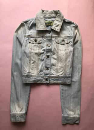 Стильная укорочённая джинсовая куртка authentic denim