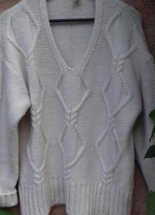 Объемный свитер,полувер hsm