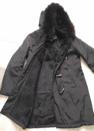 Andrew marc xs осенне зимняя водоотталкивающая куртка , на натуральном меху