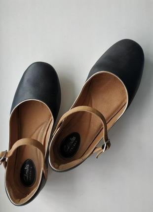 Кожаные туфли- балетки clarks, размер 7/41