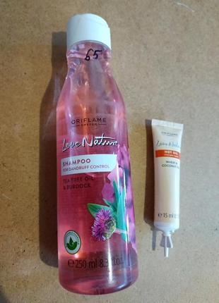 Набор шампунь и масло для волос.