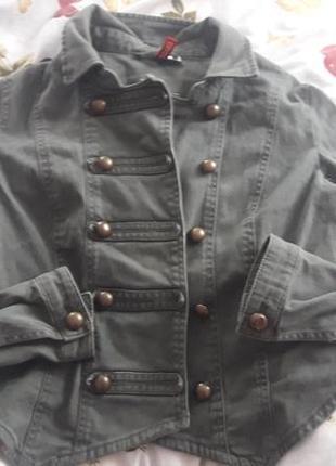 Косуха куртка хаки с пуговичками