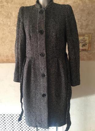 Пальто воротник шанель h&m