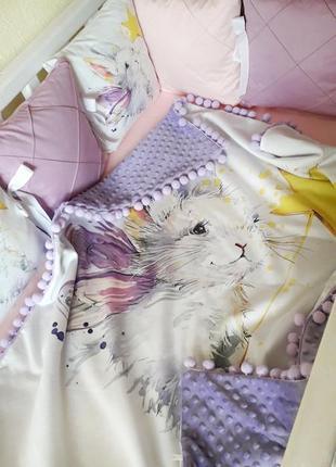 """Комплект в детскую кроватку """"кролик с волшебной палочкой"""""""