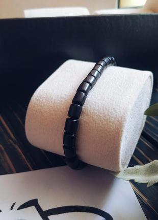 Стильный браслет унисекс из натурального деревянного бисера2 фото