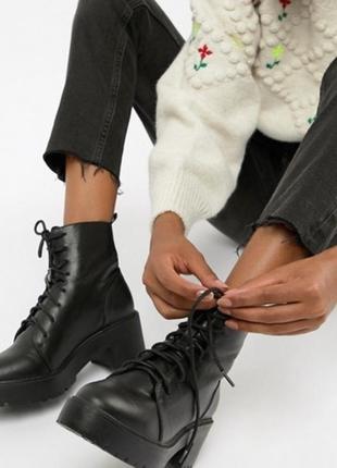 Ботинки на рельефной подошве asos, размер 37