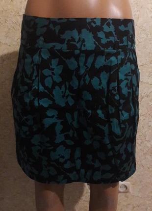 Коттоновая юбка с карманами и на подкладке