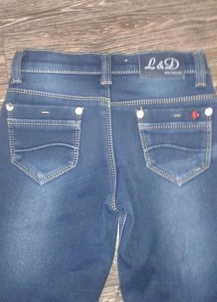 Утепленные джинсы на девочку3 фото
