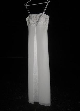 Платье yve london usa fassion белое длинное макси свадебное выпускное вечернее