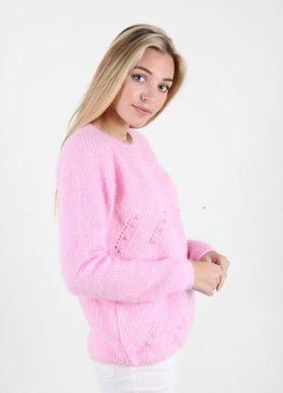 Брендовая розовая вязаная кофта джемпер свитер george турция акрил