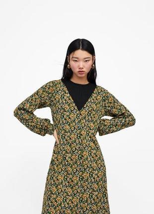 Новое платье с цветочным принтом zara9 фото