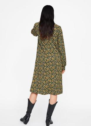 Новое платье с цветочным принтом zara8 фото