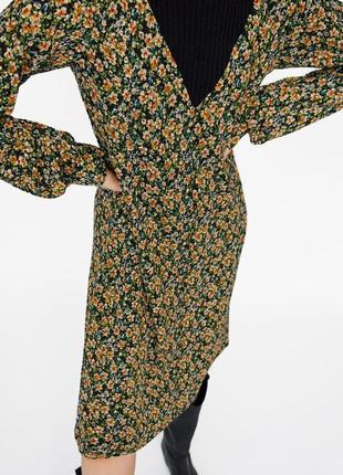 Новое платье с цветочным принтом zara6 фото