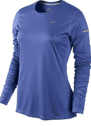 Беговая кофта nike miler ls top dri-fit running