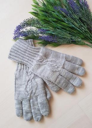 Тёплые перчатки на флисе от george