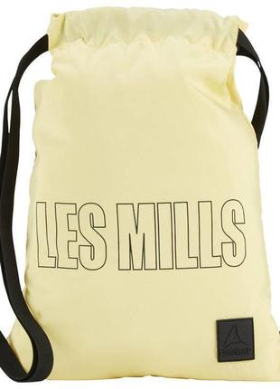 Спортивная сумка-мешок les mills, желтая, оригинал