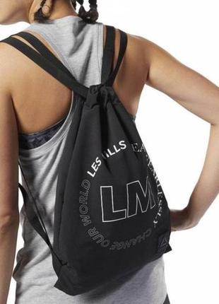 Сумка-мешок les mills черного цвета