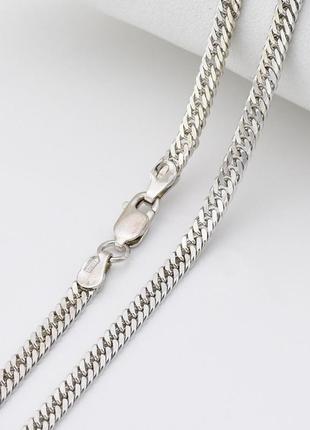 """Серебряная цепочка """"панцирная двойная"""", длина 55 см, ширина 3 мм, вес 11.6 г"""