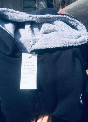 Костюм мужской спортивный ferrary теплый трехнить, мех капюшон штаны и кофта 44-56р3 фото