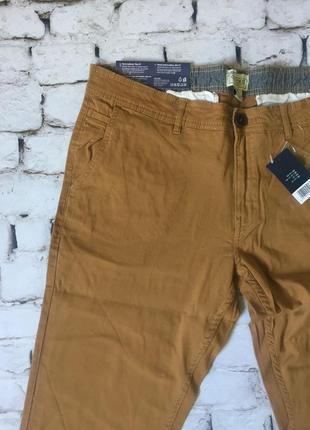 Мужские брюки отличного качества штаны цвета горчица4 фото