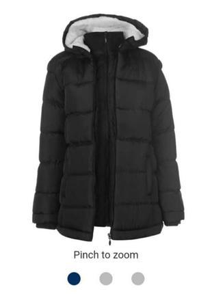 Удлиненная зимняя куртка lee cooper,  м-l