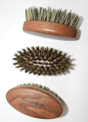 Щетка для бороды и усов  (кабан + синтетика)