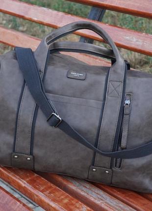 Дорожная сумка david jones d. taupe (песочно-серый)