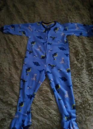 Флисовая пижама флисовая поддева динозавры