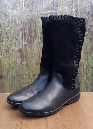 Кожаные демисезонные ботинки сапоги clarks daisy 32 р. оригинал
