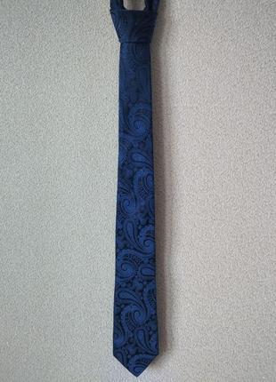 Галстук moss 1851 navy paisley tie