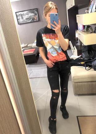 Рваные джинсы скинни zara