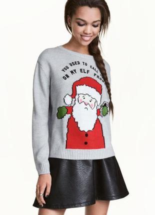 Рождественский свитер h&m