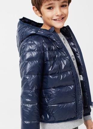 Новая куртка легкий пуховик c капюшоном mango оригинал р.152- 90%пух