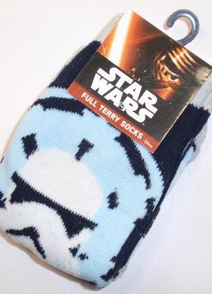 Носки махровые для мальчика star wars от disney р. 23-26