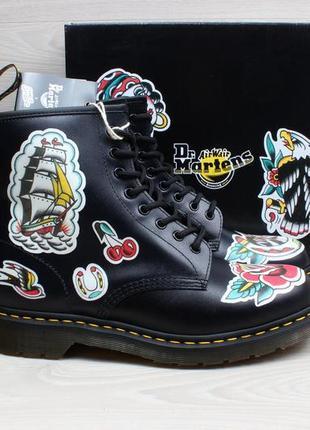 Кожаные мужские ботинки dr.martens 1460 tattoo chris lambert, размер 44.5 - 45