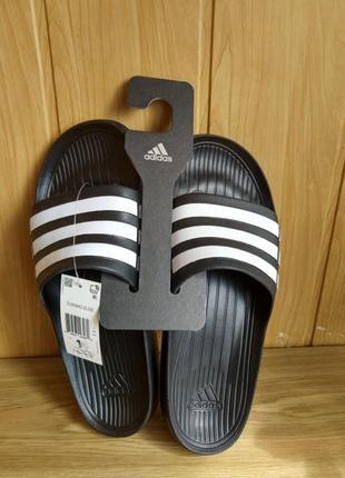 Тапки adidas duramo slide шлепанцы новые оригинал сланцы 48 49 51