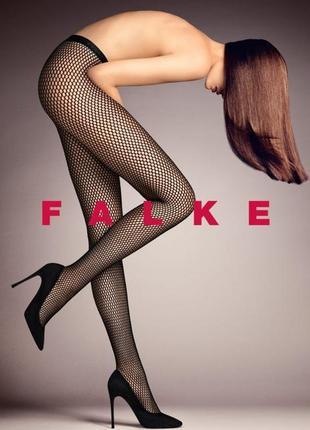 Falke! оригинал, колготы, колготки сетка колготы сеточка с серебристым люрексом