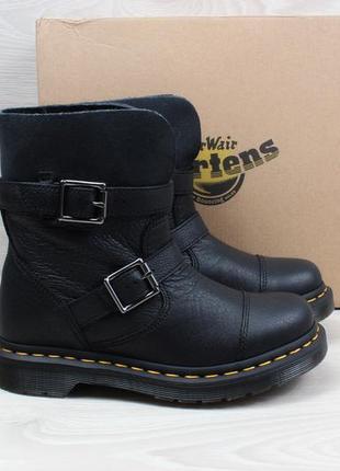 Кожаные женские ботинки dr.martens оригинал, размер 36 (черные)