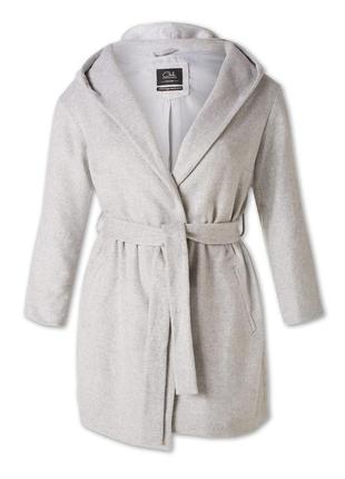 Пальто-халат с капюшоном демисезонное c&a большой размер