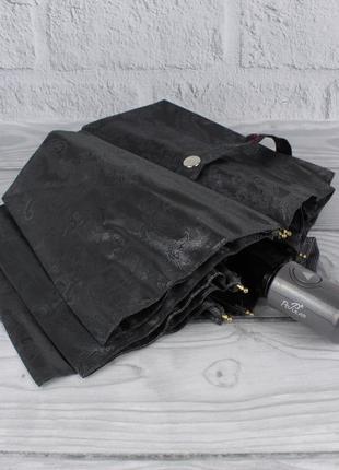 Шикарный качественный складной зонт полуавтомат popular 1696-5р графит, восточный узор