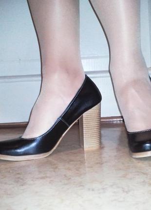 Туфли visano, на широком каблуке